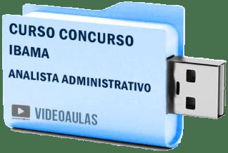 Curso Vídeo Aulas Concurso IBAMA – Analista Administrativo 2018 – Pendrive