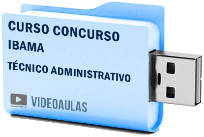 Curso Vídeo Aulas Concurso IBAMA – Técnico Administrativo 2018 – Pendrive