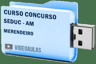 Curso Vídeo Aulas Concurso SEDUC – AM – Merendeiro 2018 – Pendrive