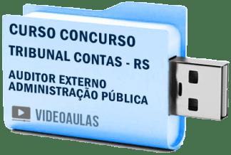 Curso Vídeo Aulas Concurso TCE – RS – Auditor Externo Administração Pública 2018 – Pendrive