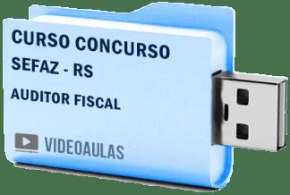 Curso Vídeo Aulas Concurso SEFAZ – RS – Auditor Fiscal 2018 – Pendrive