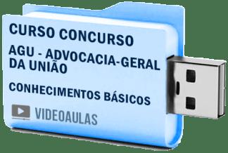 Curso Básico Concurso AGU – Todos os Cargos – Vídeo Aulas Pendrive