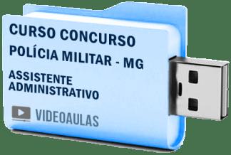 Curso Concurso Polícia Militar MG Assistente Administrativo Vídeo Aulas