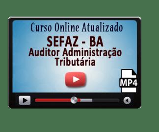 Curso Online Concurso Sefaz BA Auditor Administração Tributária Vídeo Aulas