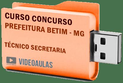 Concurso Prefeitura Betim – MG – Técnico Secretaria Curso Videoaulas