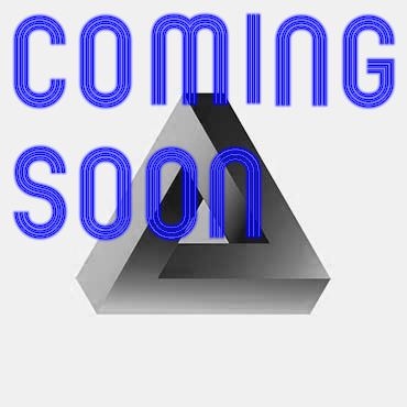3D triange with COMING SOON text