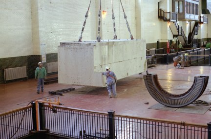 Pieces were removed with owner's 200 ton overhead crane