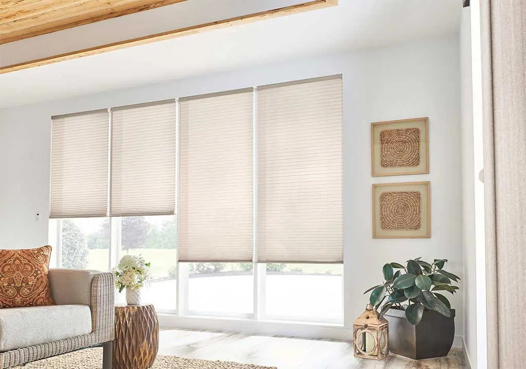 Honeycomb Blinds are designed to diffuse light, provide privacy, and block the transfer of hot and cold air