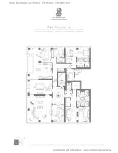 The Ritz-Carlton Residences - Floor Plan - The Valencia
