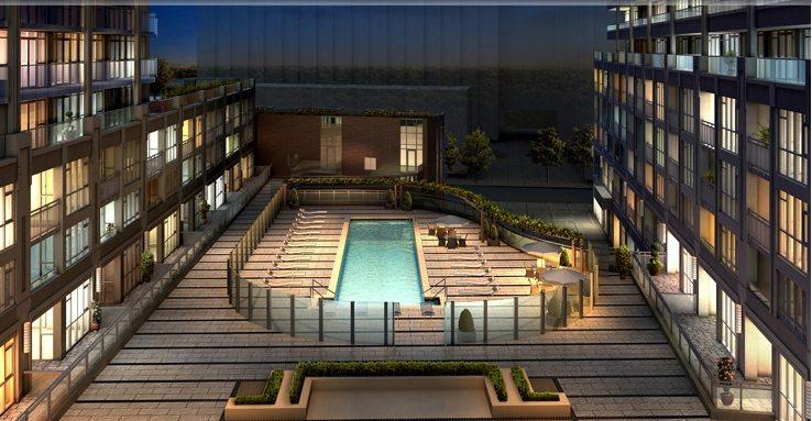 York Harbour Condos Outdoor Pool Toronto, Canada