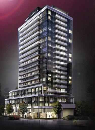 Neon Condos Building View Toronto, Canada