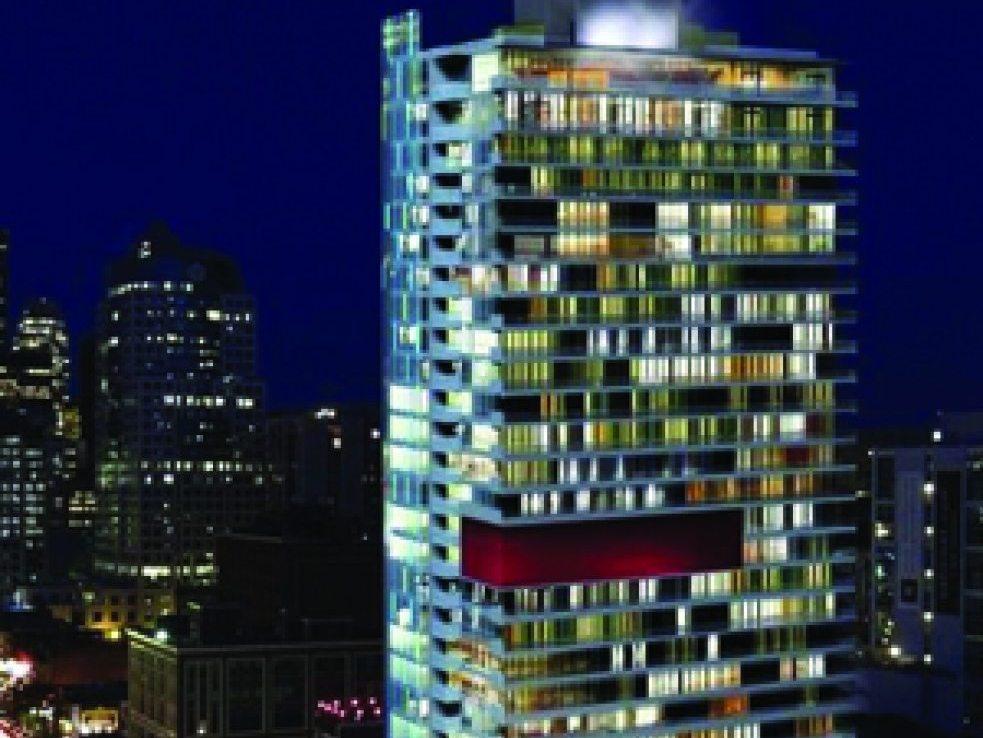 M5V Condos Night View Toronto, Canada