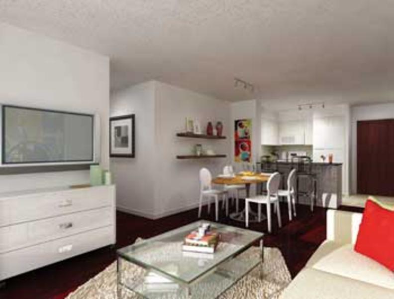 Luxe Condos Living Area Toronto, Canada