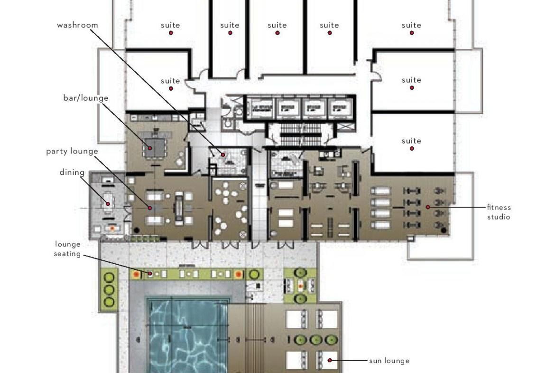 88 North Condos Amenities Plan Toronto, Canada
