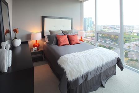 Elle Condos Bedroom Toronto, Canada