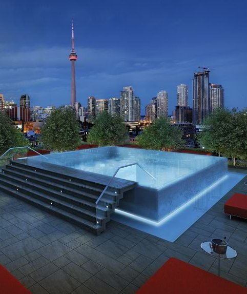 Fashion House Condos Rooftop Pool Toronto, Canada