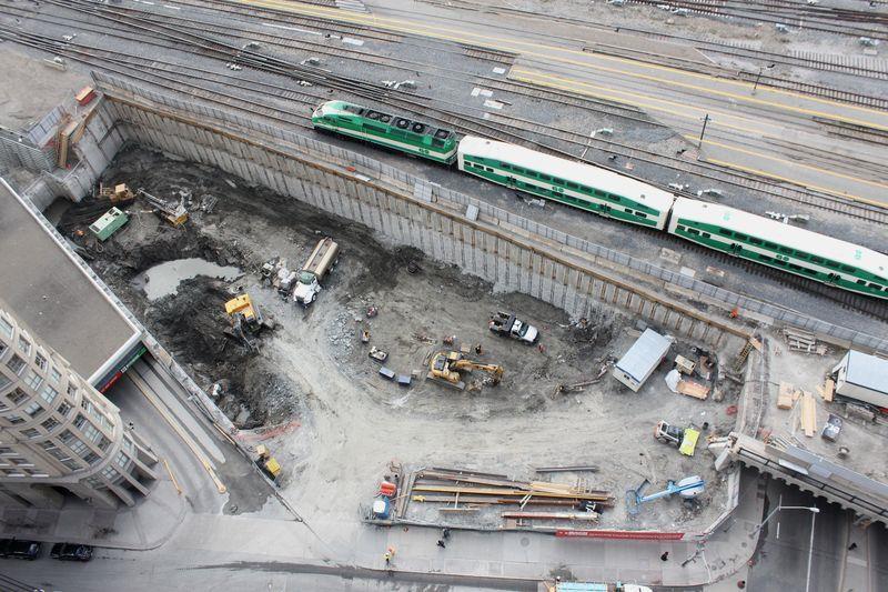 Backstage Condos Construction Area Toronto, Canada