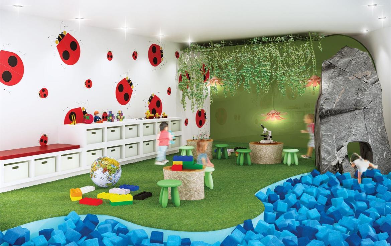 Exchange Condos Children Play Room Toronto, Canada