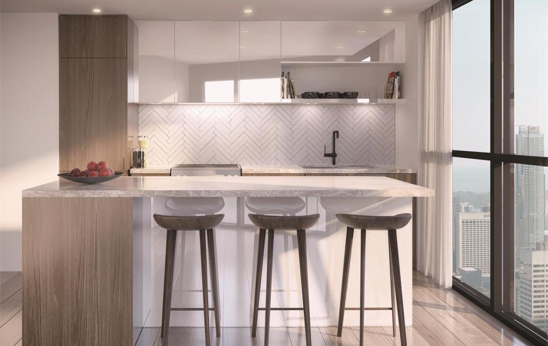 159SW Condos Kitchen Toronto, Canada