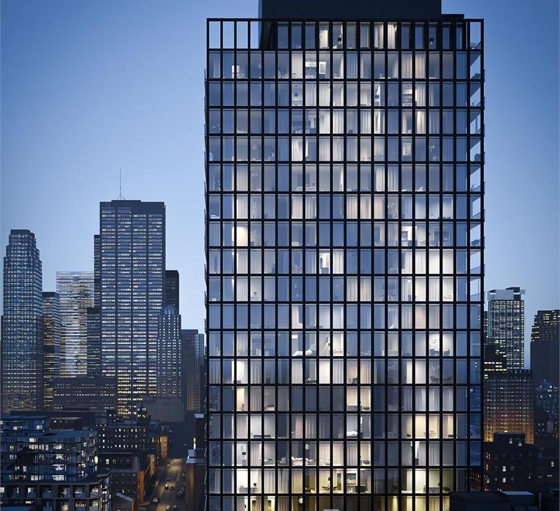 Bauhaus Condos Night View Toronto, Canada
