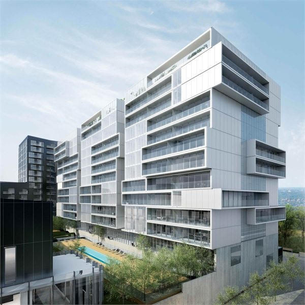River City 2 Condos Building View Toronto, Canada