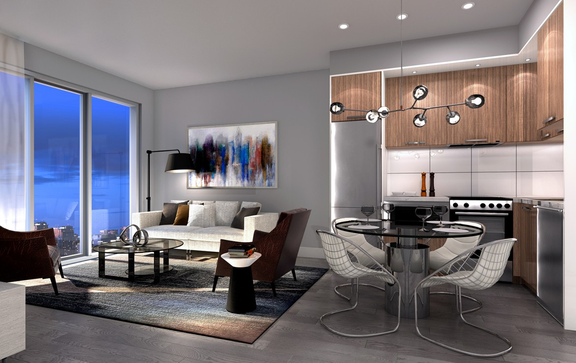 The Rosedale on Bloor Condos Living Area Toronto, Canada