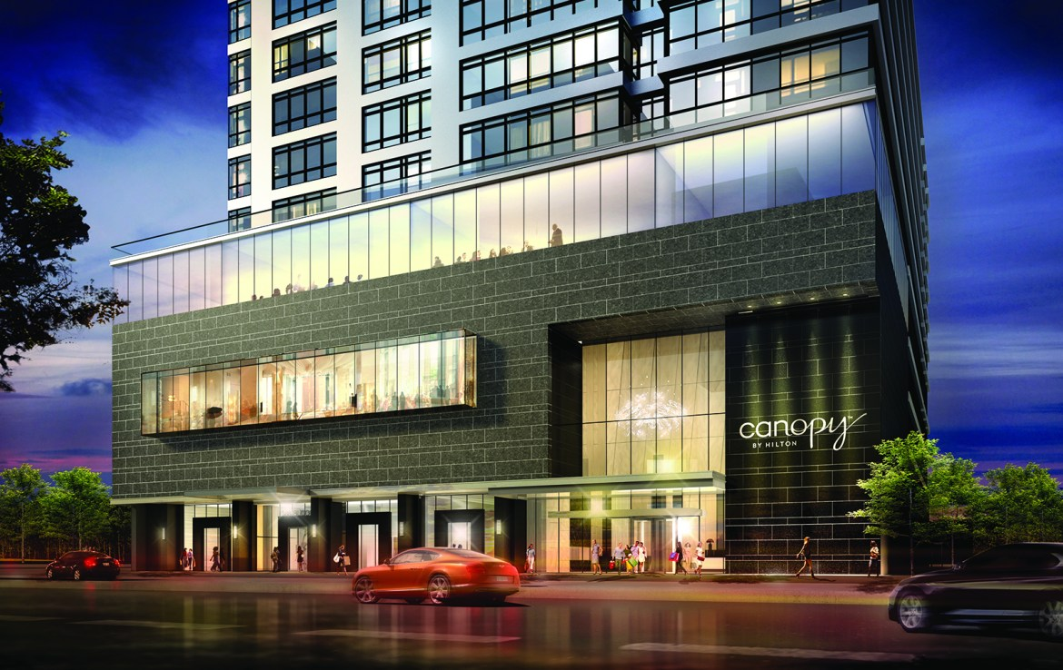 The Rosedale on Bloor Condos Front View Toronto, Canada