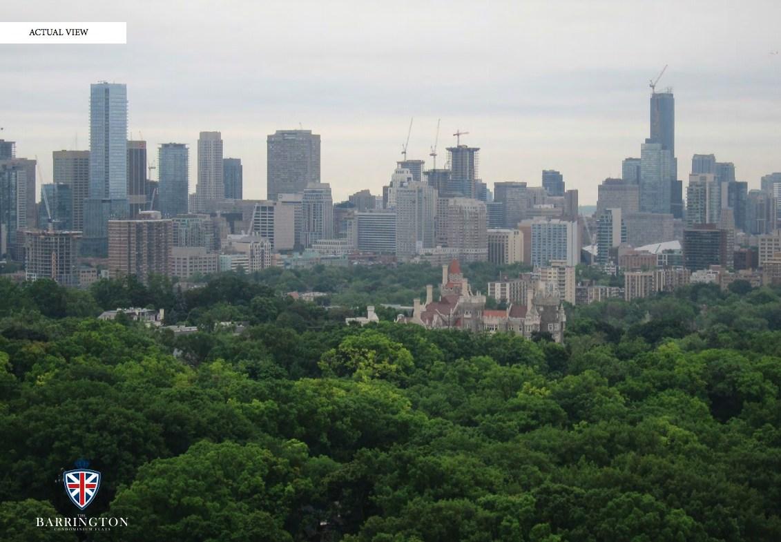 The Barrington Condos Aerial View Toronto, Canada