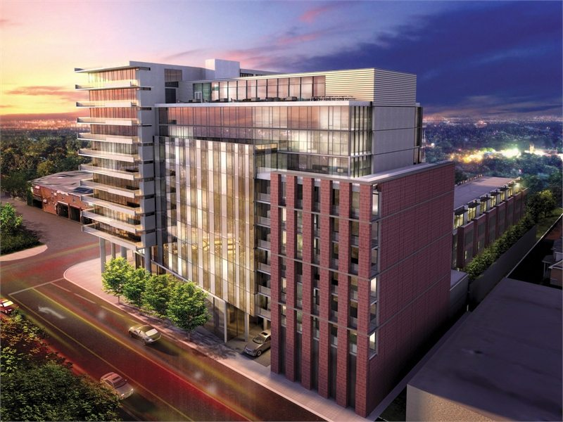 The Carlaw Condos Building View Toronto, Canada