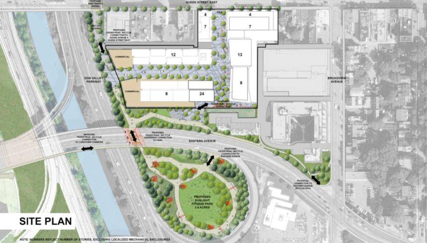 Riverside Square Condos Site Plan Toronto, Canada