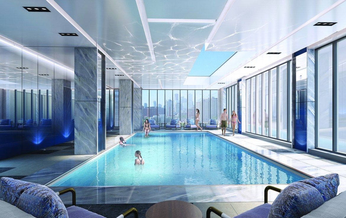 The Rosedale on Bloor Condos Swimming Pool Toronto, Canada