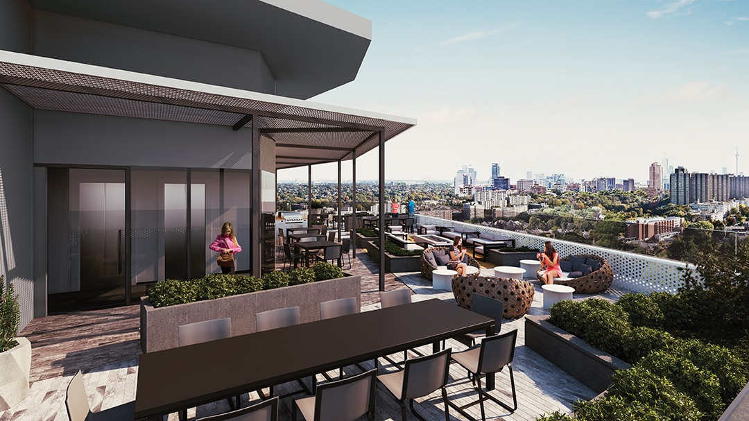 Distinction Condos Terrace Lounge Toronto, Canada