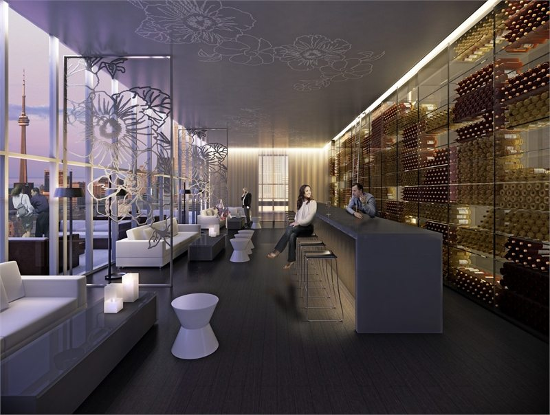 U Condos Wine Lounge Toronto, Canada