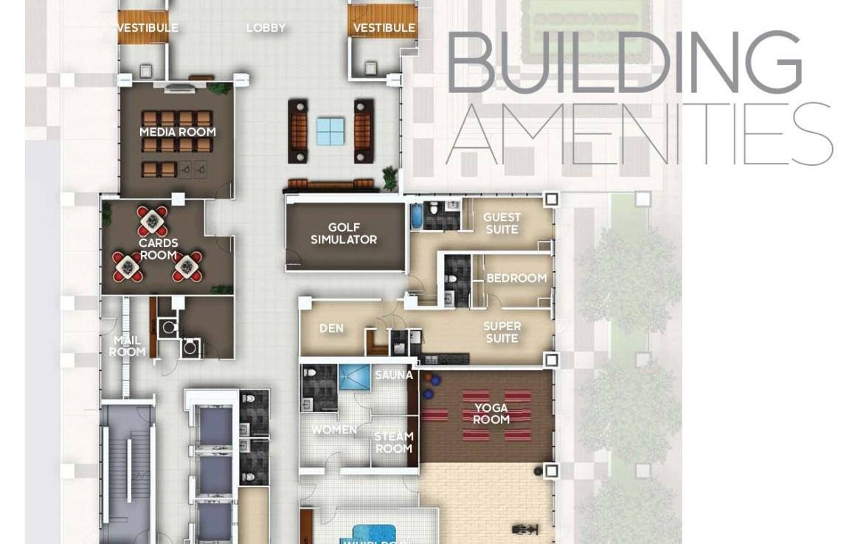 Legacy Park Condos Amenities Plan Toronto, Canada