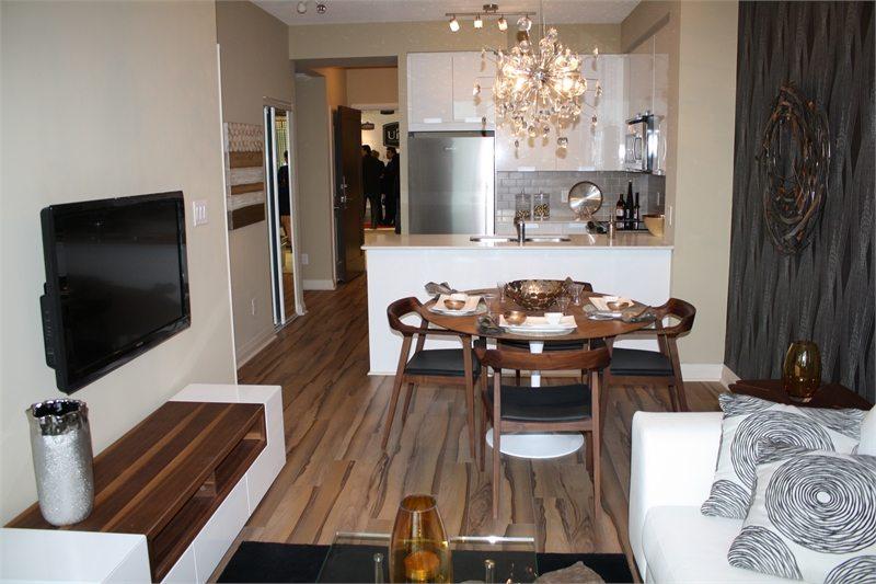 Crystal 2 Condos Living Area Toronto, Canada