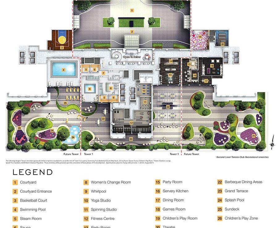 Bloorvista Condos Amenities Plan Toronto, Canada