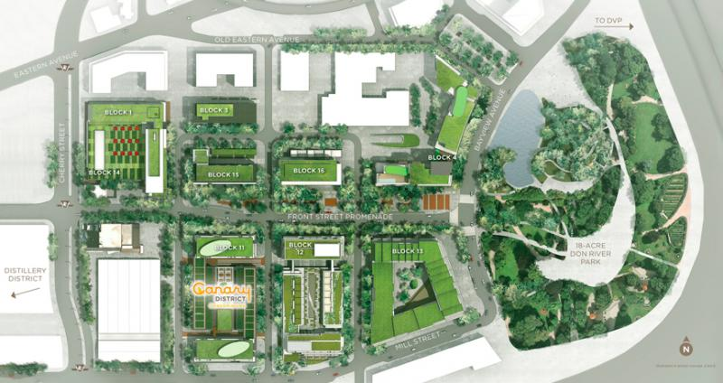 Canary Block Condos Property Map Toronto, Canada