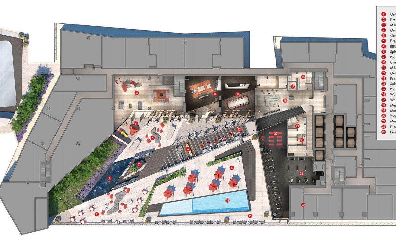 M City Condos Amenities Plan Toronto, Canada