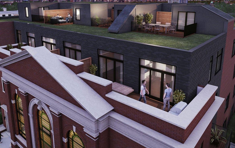 Sunday School Condos Rooftop View Toronto, Canada