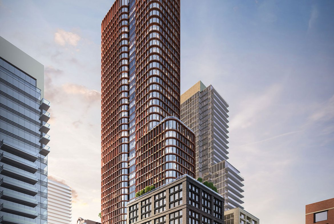 Exterior rendering of Four Eleven King Condos.