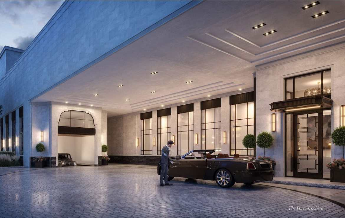 Rendering of 89 Avenue Condos Port Cochere.