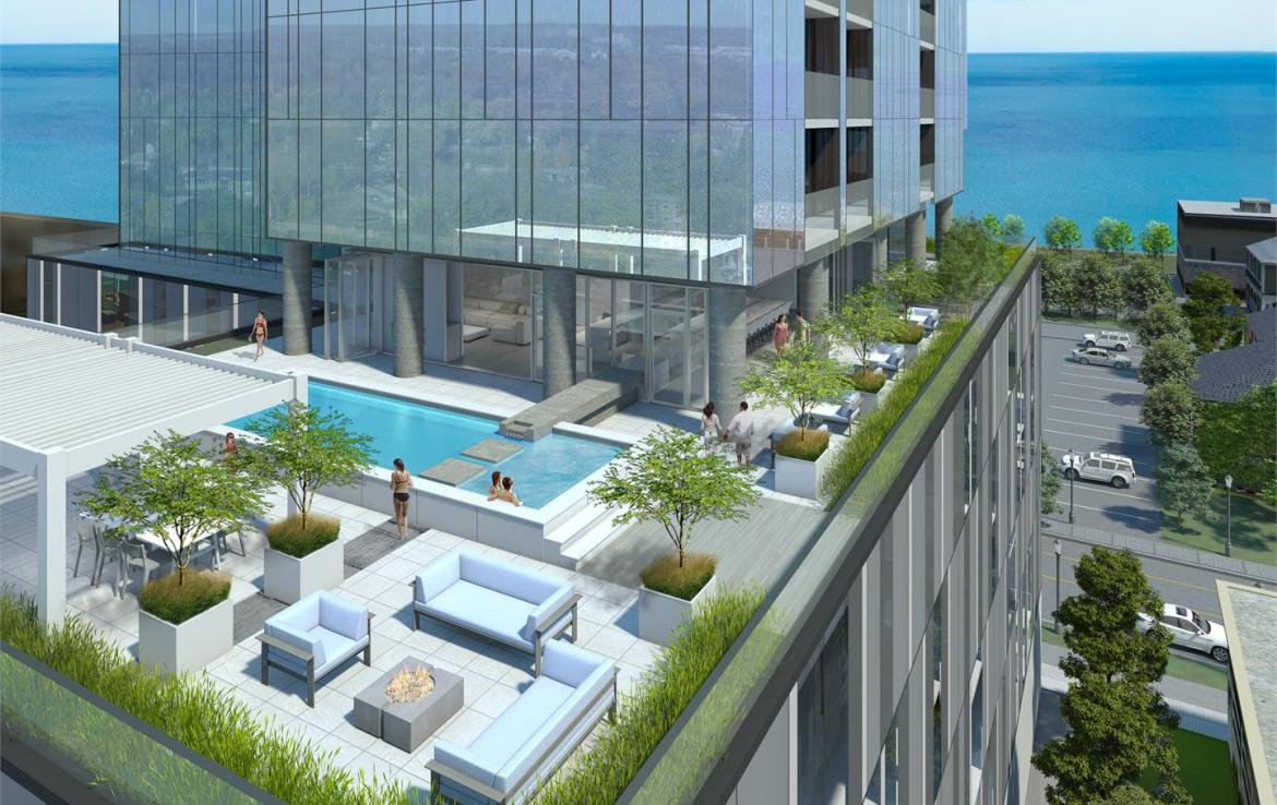 Rendering of Nautique Lakefront Residences rooftop outdoor pool