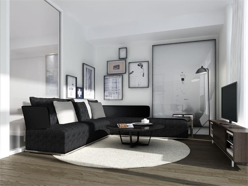 TEN 93 Condos Living Room Toronto, Canada