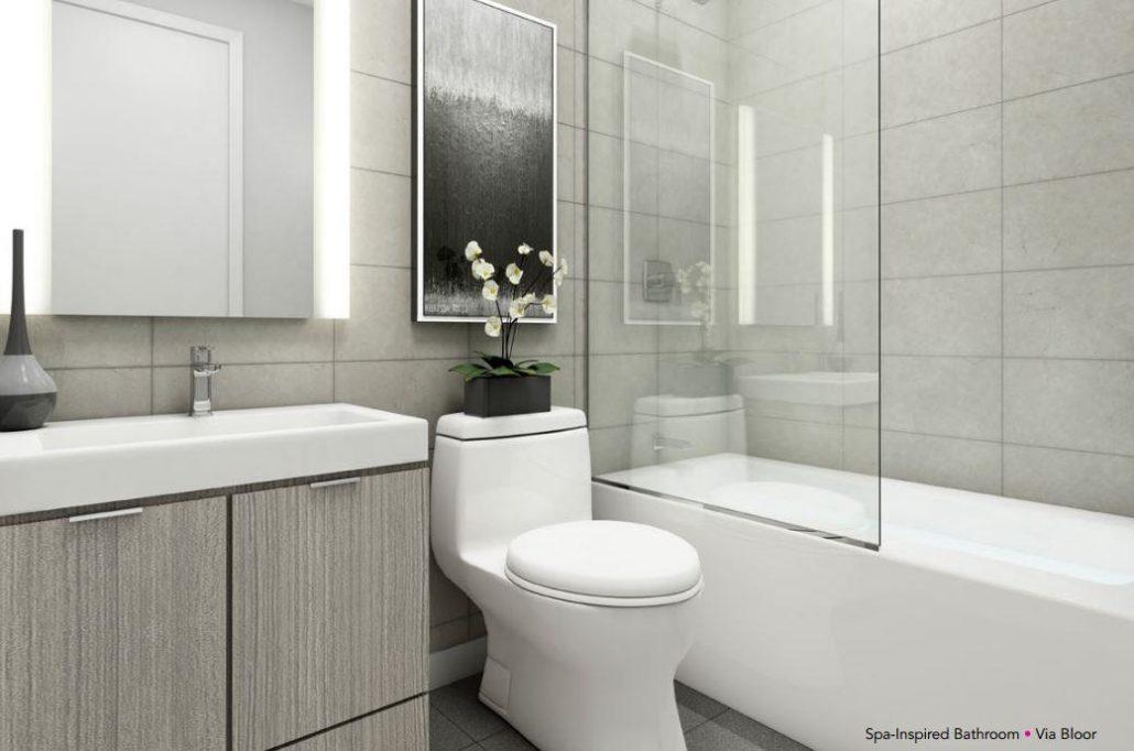 Via Bloor Condos Bathroom Toronto, Canada