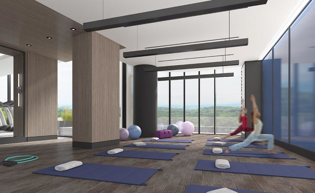 Via Bloor Condos Yoga Studio Toronto, Canada
