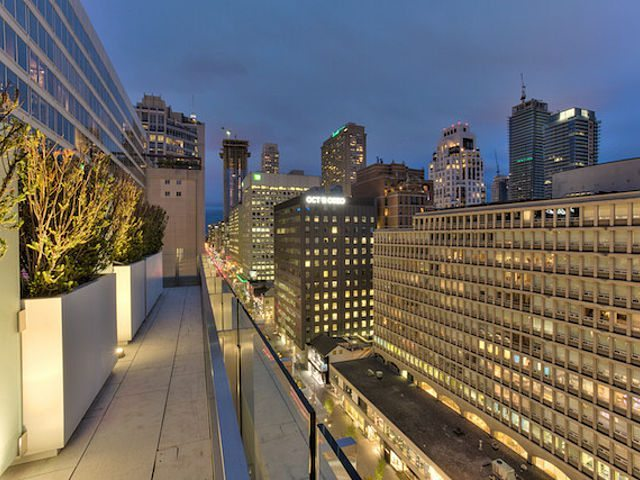 155 Cumberland Condos Balcony View Toronto, Canada