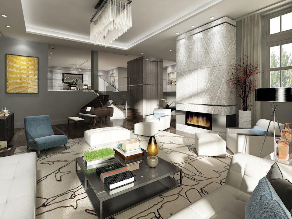 36 Hazelton Condos Living Area Toronto, Canada