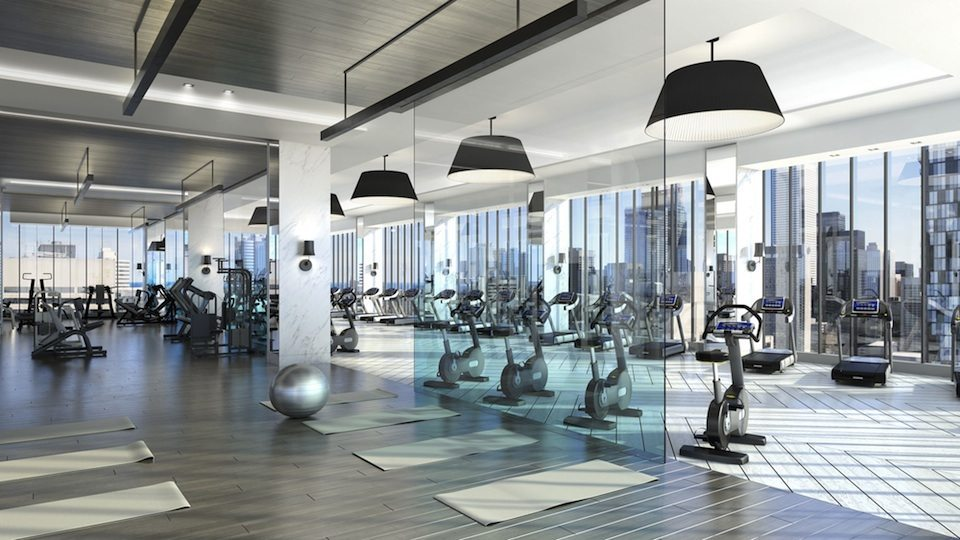 488 University Residences Condos Gym Toronto, Canada