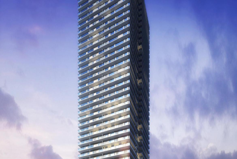 55 Eglinton Avenue East Condos Building View Toronto, Canada