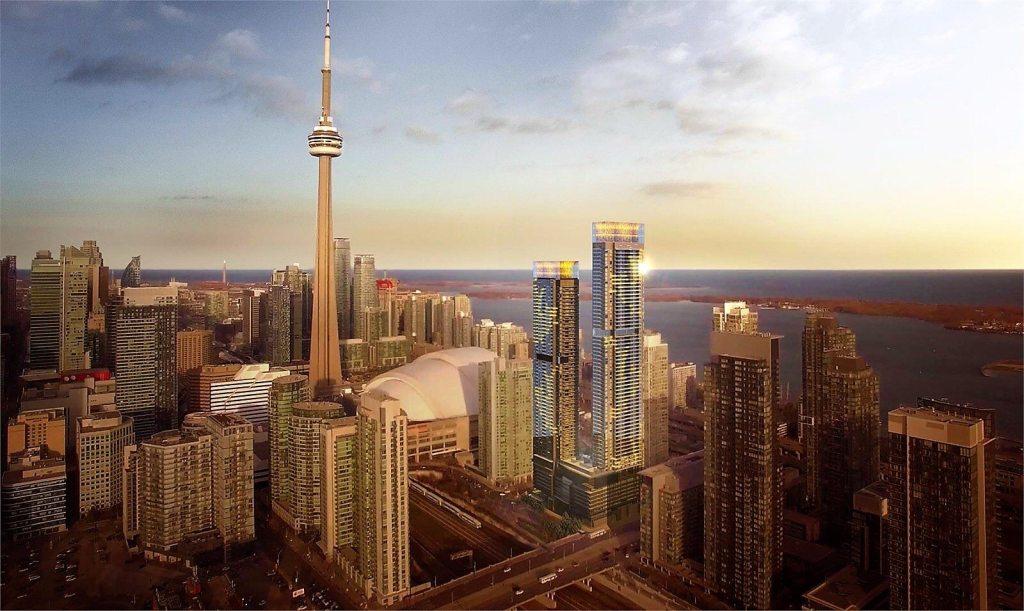 Concord Canada House Aerial View Toronto, Canada